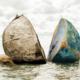 Stein gespalten